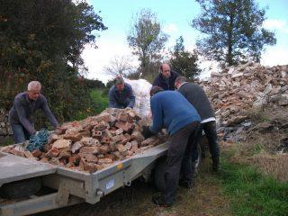 unloading-the-trailer