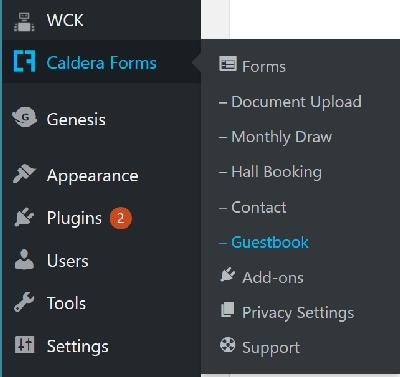 caldera-guestbook