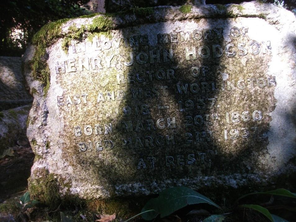 Rev Hodgson grave 2