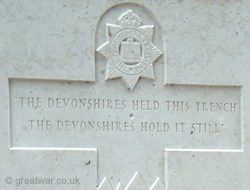 Devonshire Cemetery Memorial Dedication